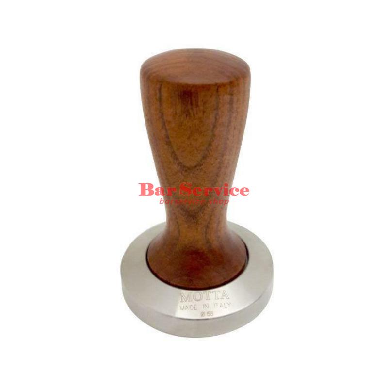 Темпер Мотта SLIM 58 мм. (плоский) рукоятка из дерева в Кирове